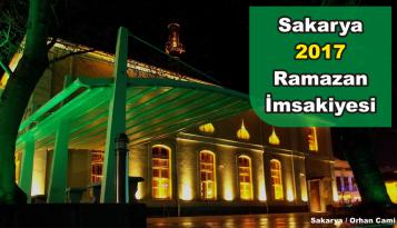 Sakarya – Adapazarı 2017 Yılı İmsakiyesi – Sakarya Sahur ve İftar Saatleri