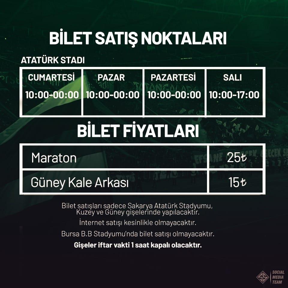 Sakaryaspor - Fatih Karagümrük Biletleri